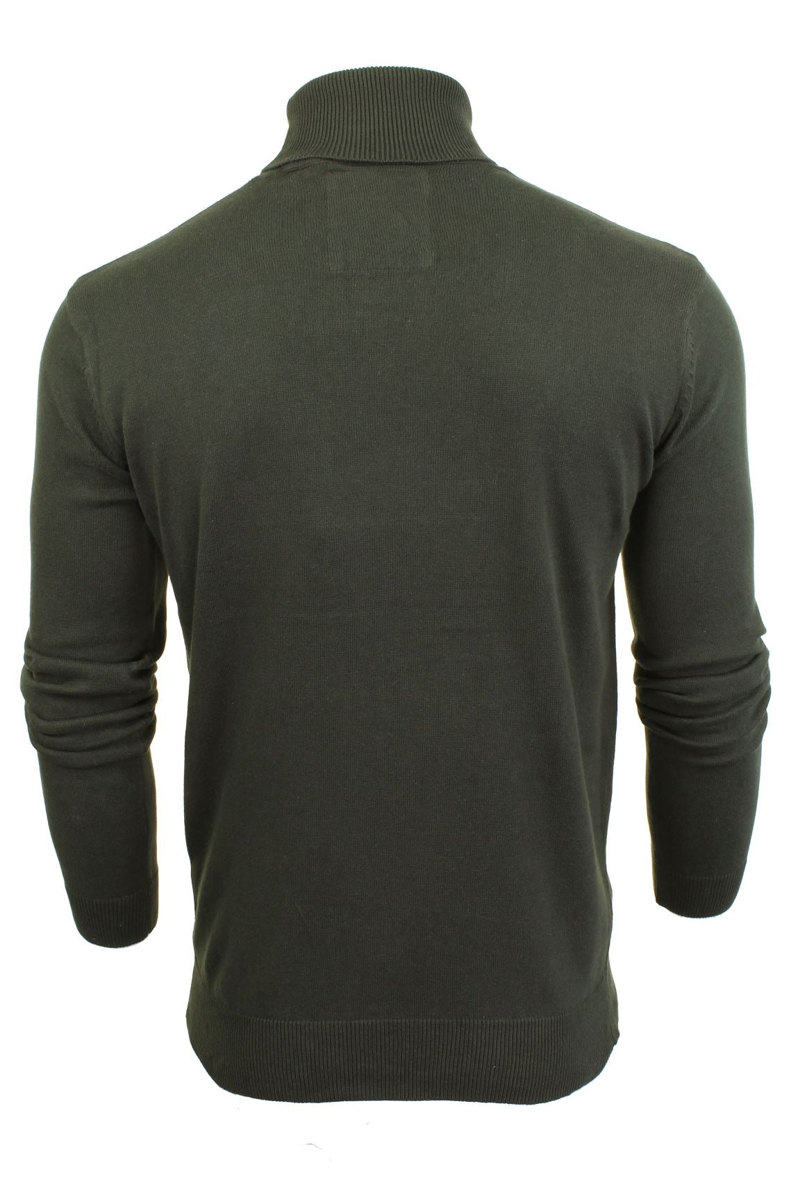 Mens Roll Polo Neck Jumper by Brave Soul 'Hume'-3