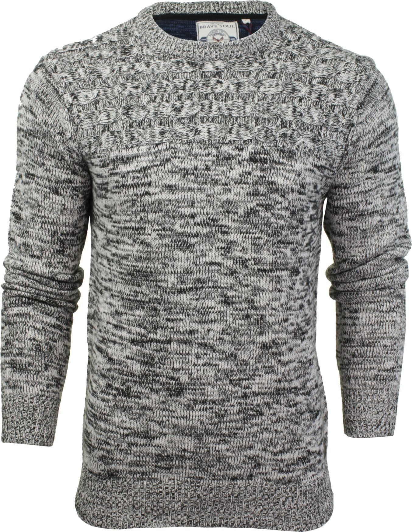 Mens Crew Neck Jumper by Brave Soul-Main Image
