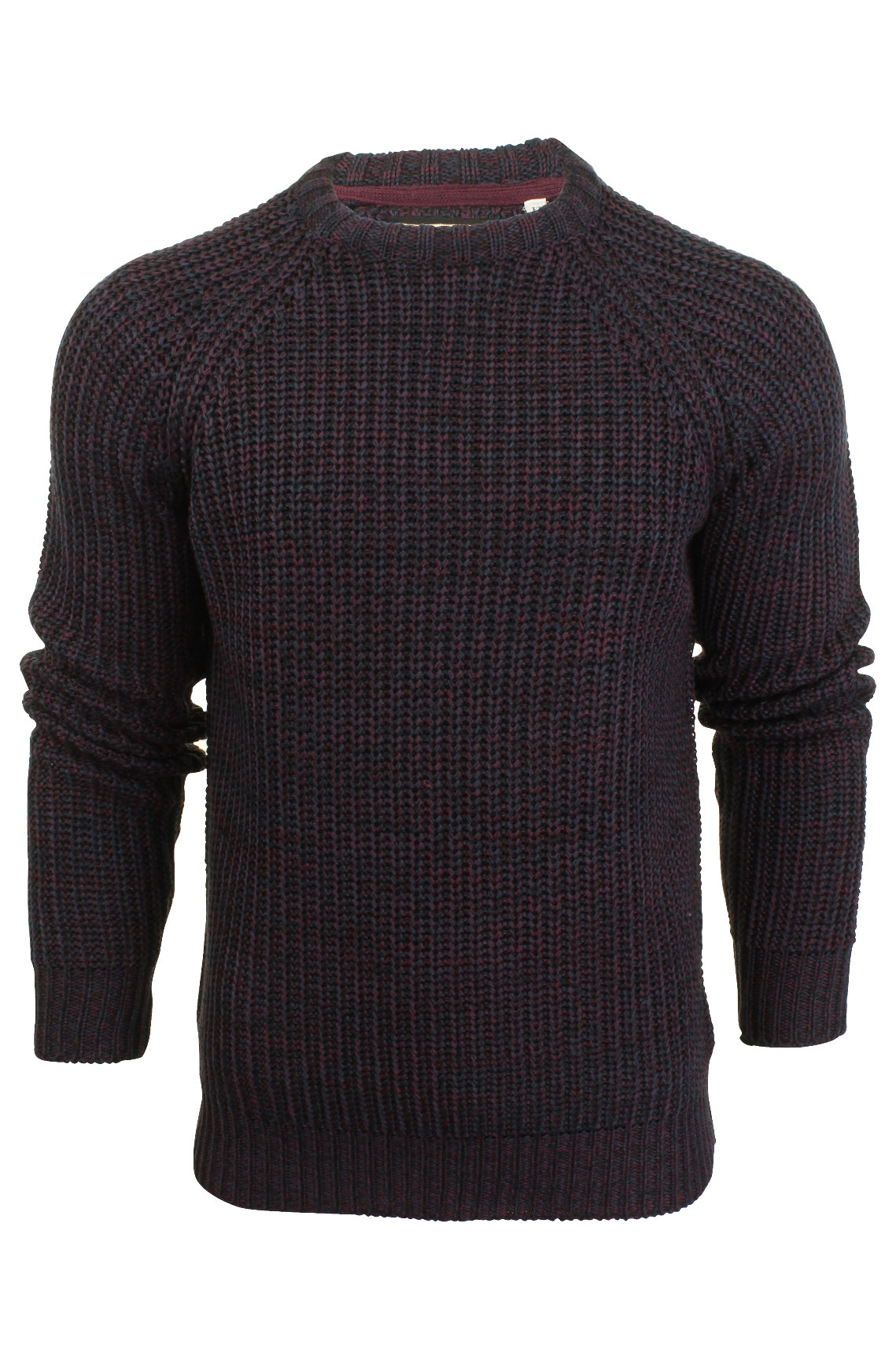 Mens Jumper by Brave Soul Chunky Knit Crew Neck-2
