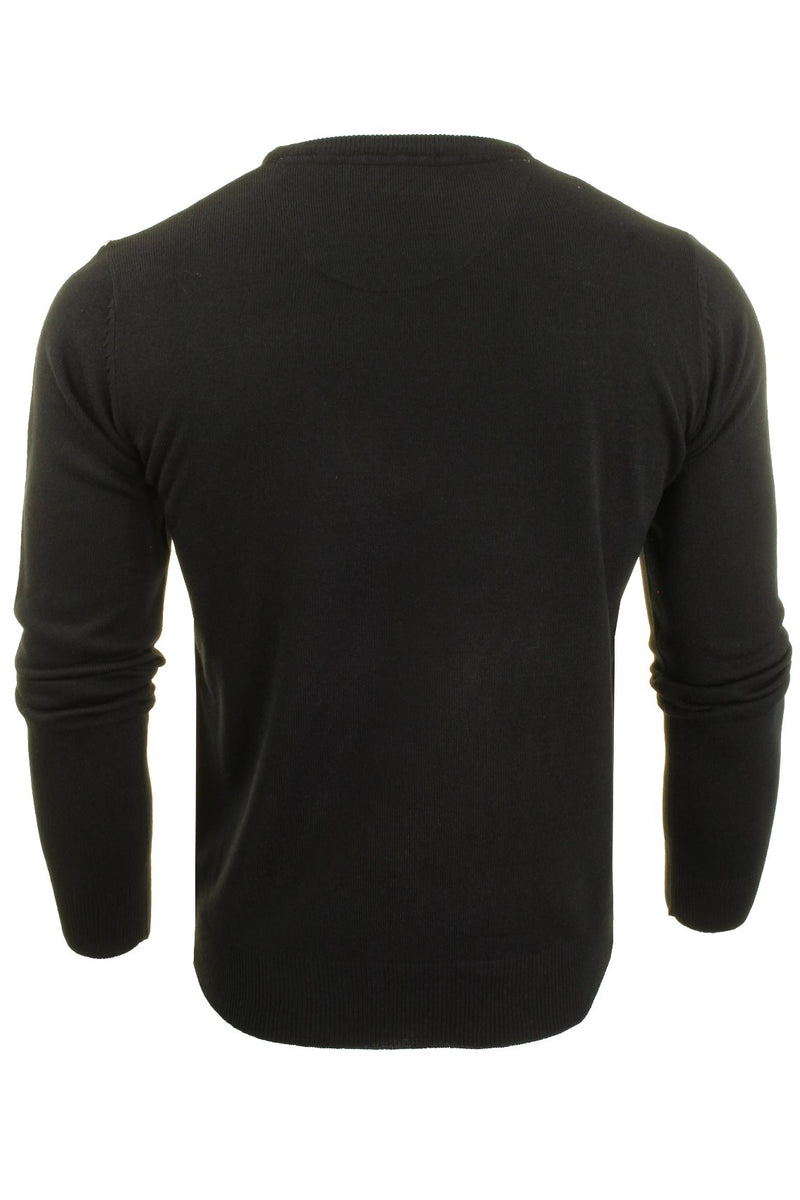 Brave Soul Mens Jumper Parse Fashion Crew Neck, 03, Mk-279Parse, #colour_Black - D