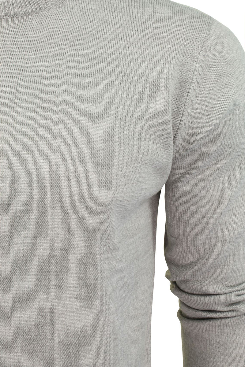 Brave Soul Mens Jumper Parse Fashion Crew Neck, 02, Mk-279Parse, #colour_Grey