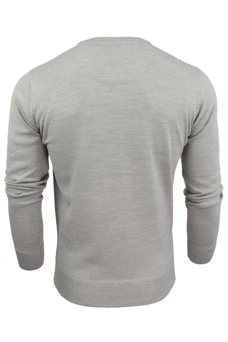 Brave Soul Mens Jumper Parse Fashion Crew Neck, 03, Mk-279Parse, #colour_Grey