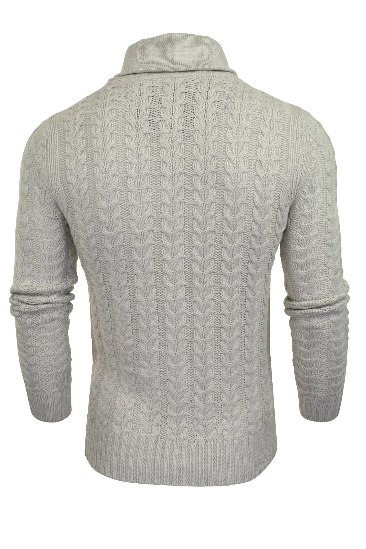 Brave Soul 'Schematic' Button Through Cardigan - All Over Knit Detail-3