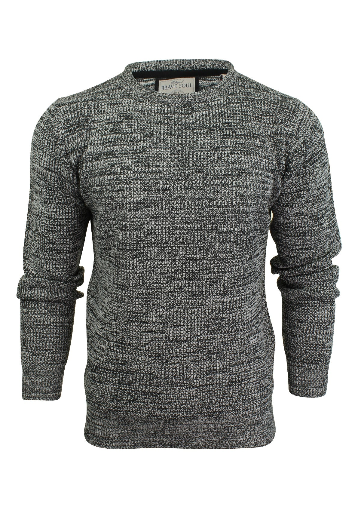 Mens Crew Neck Jumper by Brave Soul Long Sleeved-Main Image