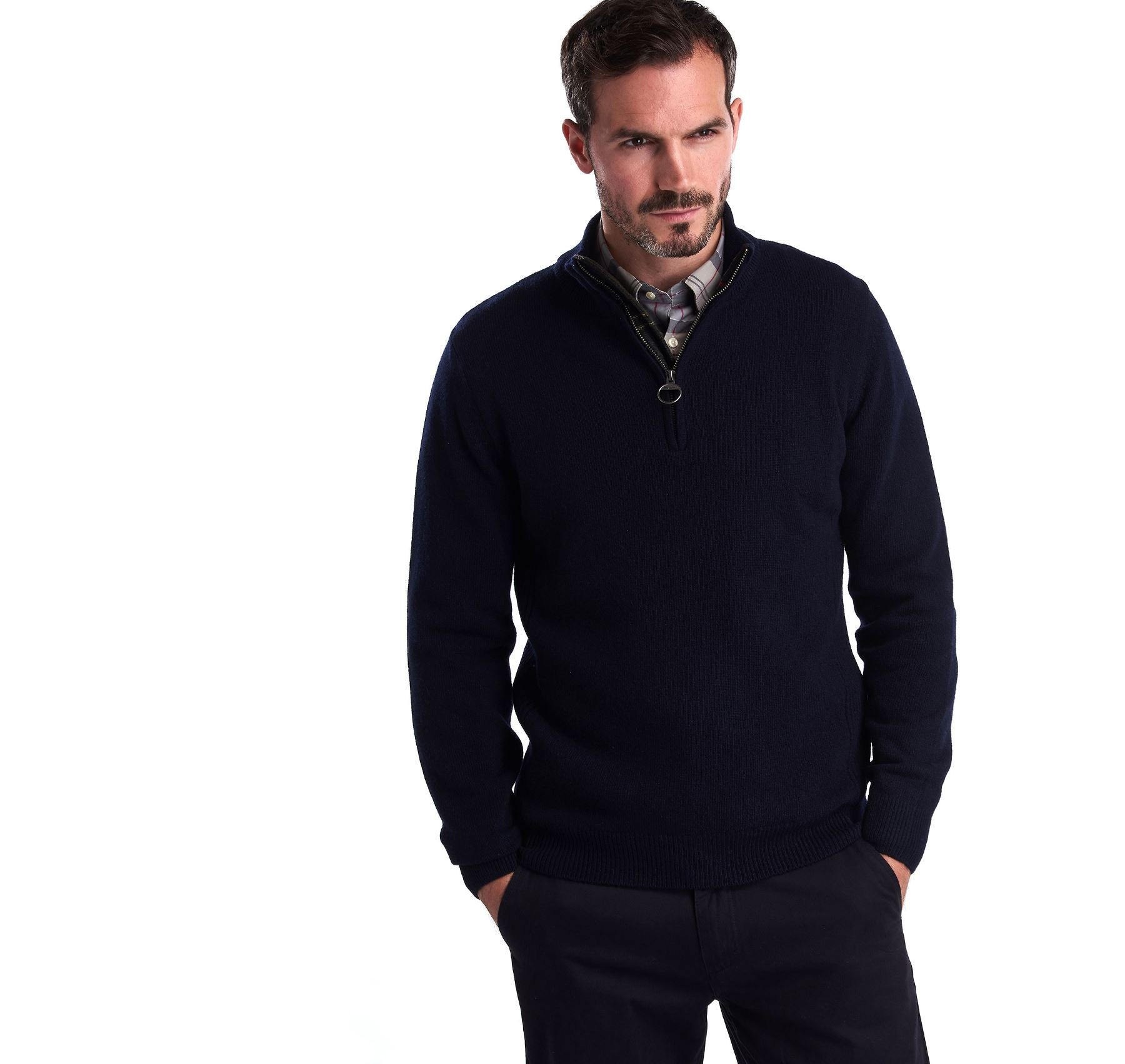 Barbour Men's Holden Half Zip Lambswool Jumper_01_Mkn0837_Navy
