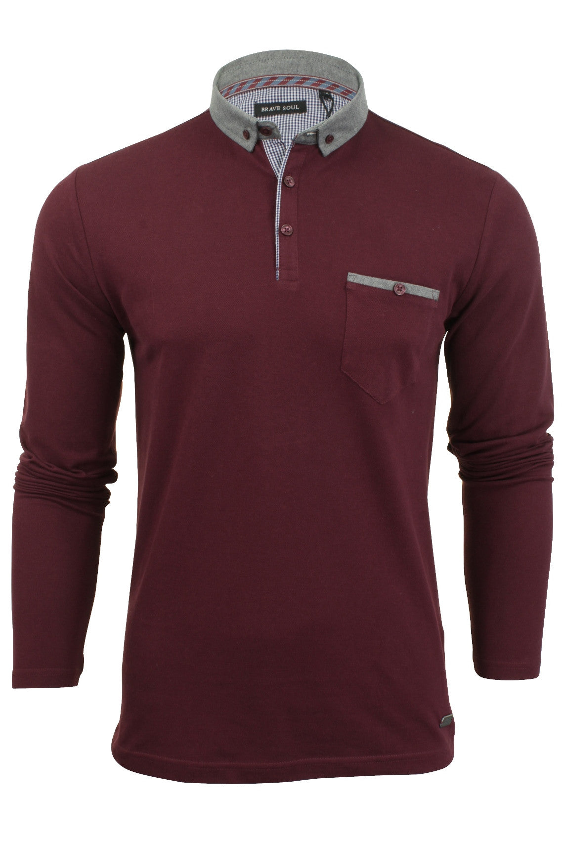 Mens Polo T-Shirt by Brave Soul 'Hera'-Main Image