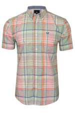Crew Clothing Men's 'Padbury' Soft Check Shirt - Short Sleeved, 01, Mmb097, #colour_Multi