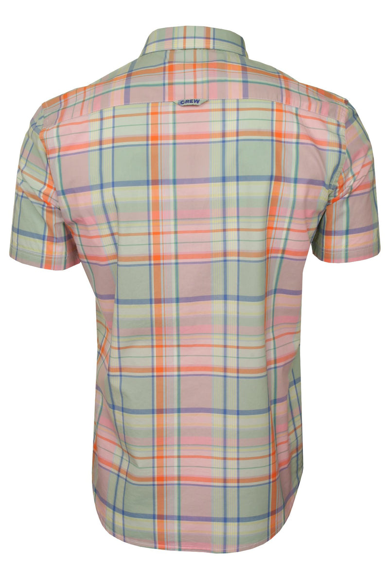 Crew Clothing Men's 'Padbury' Soft Check Shirt - Short Sleeved, 03, Mmb097, #colour_Multi