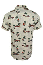 Mens Brave Soul Hawaiian Shirt - Short Sleeved, 03, Msh-273Lagos, #colour_Ecru