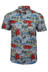 Mens Brave Soul 'Climate' Hawaiian Shirt-2