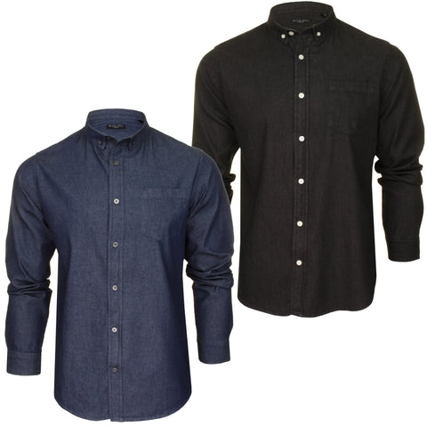 Brave Soul Mens Denim Shirt 'Felonie' - Long Sleeved-Main Image