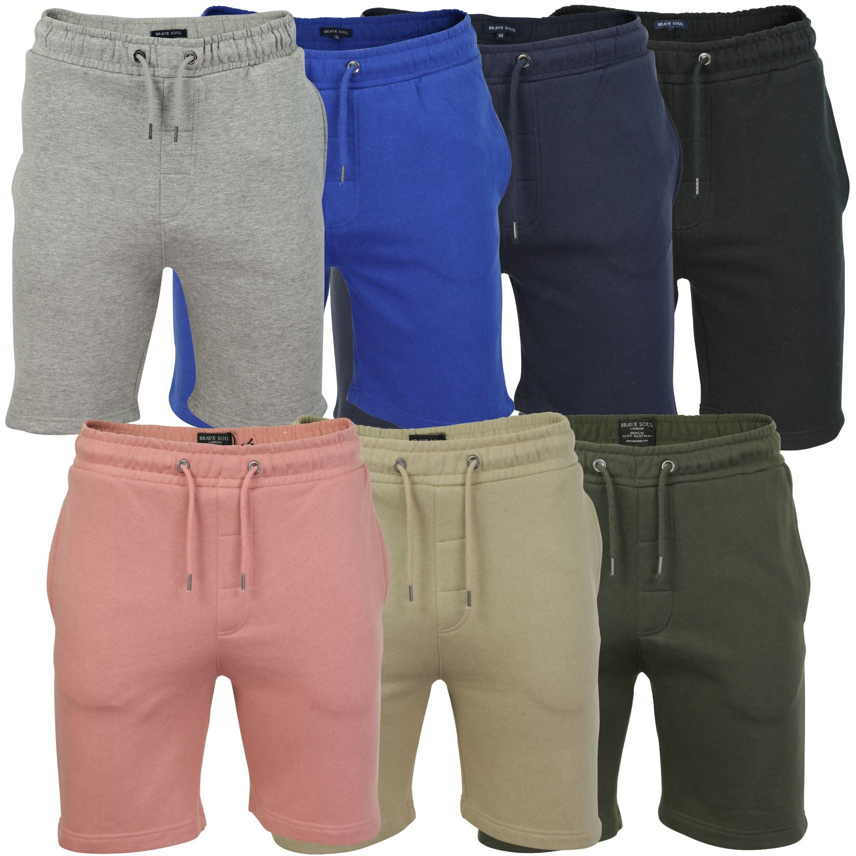 Mens Jogger Shorts by Brave Soul 'Tarley' Sports Training Summer Gym Pants_01_Mts-69Tarley
