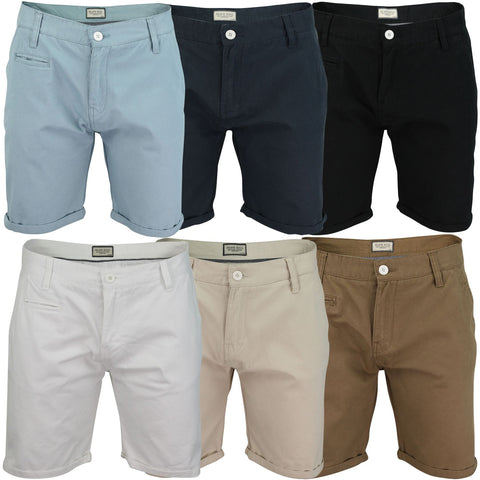 Mens Chino Shorts by Brave Soul 'Fern' Cotton Twill-Main Image