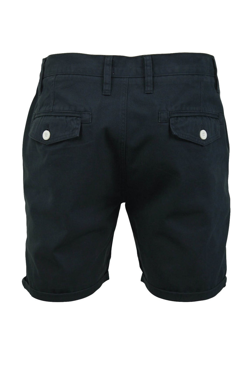 Mens Chino Short by Brave Soul 'Smith' Cotton Twill, 03, Msrt-Fern, #colour_Smith - Navy