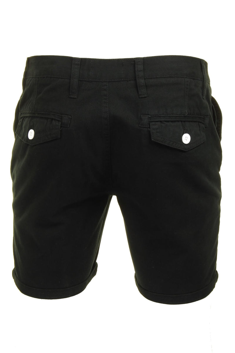 Mens Chino Short by Brave Soul 'Smith' Cotton Twill, 03, Msrt-Fern, #colour_Black