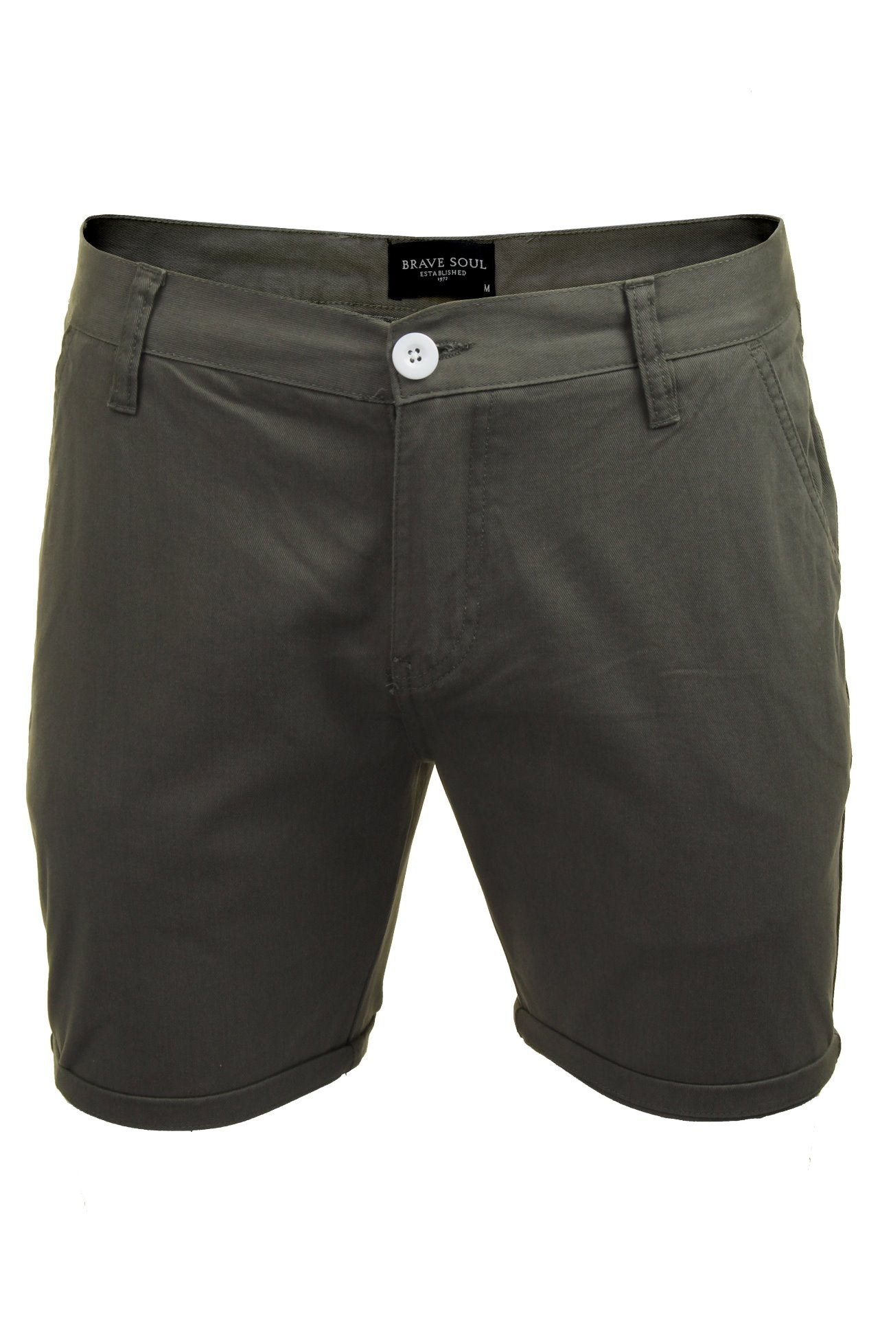 Mens Chino Short by Brave Soul 'Smith' Cotton Twill-Main Image