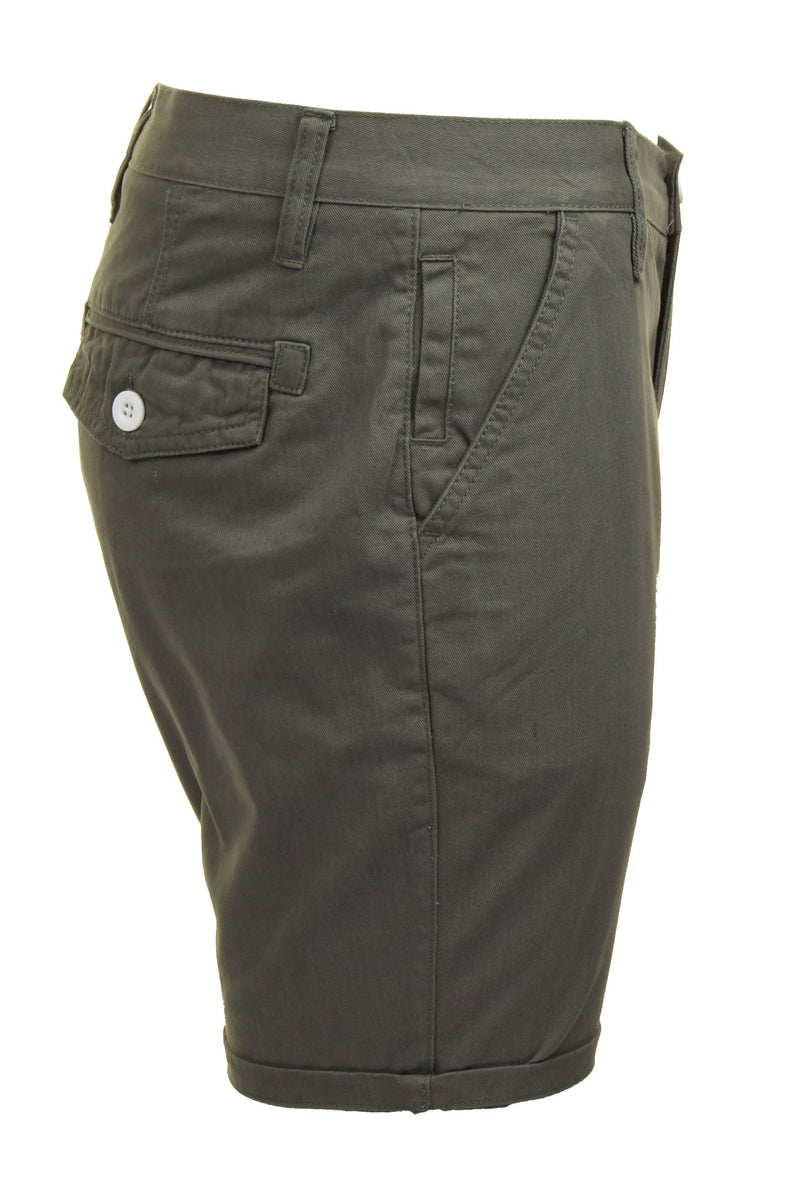Mens Chino Short by Brave Soul 'Smith' Cotton Twill, 02, Msrt-Fern, #colour_Grey