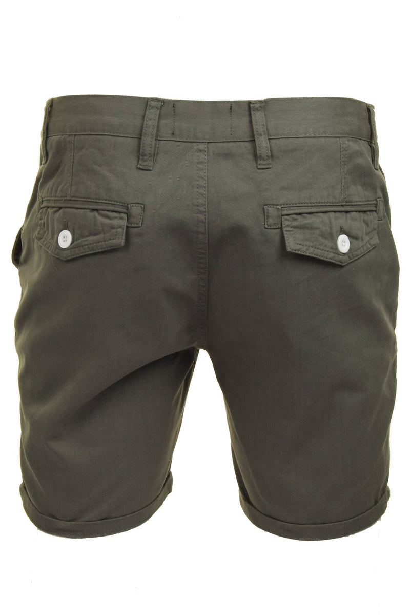 Mens Chino Short by Brave Soul 'Smith' Cotton Twill, 03, Msrt-Fern, #colour_Grey