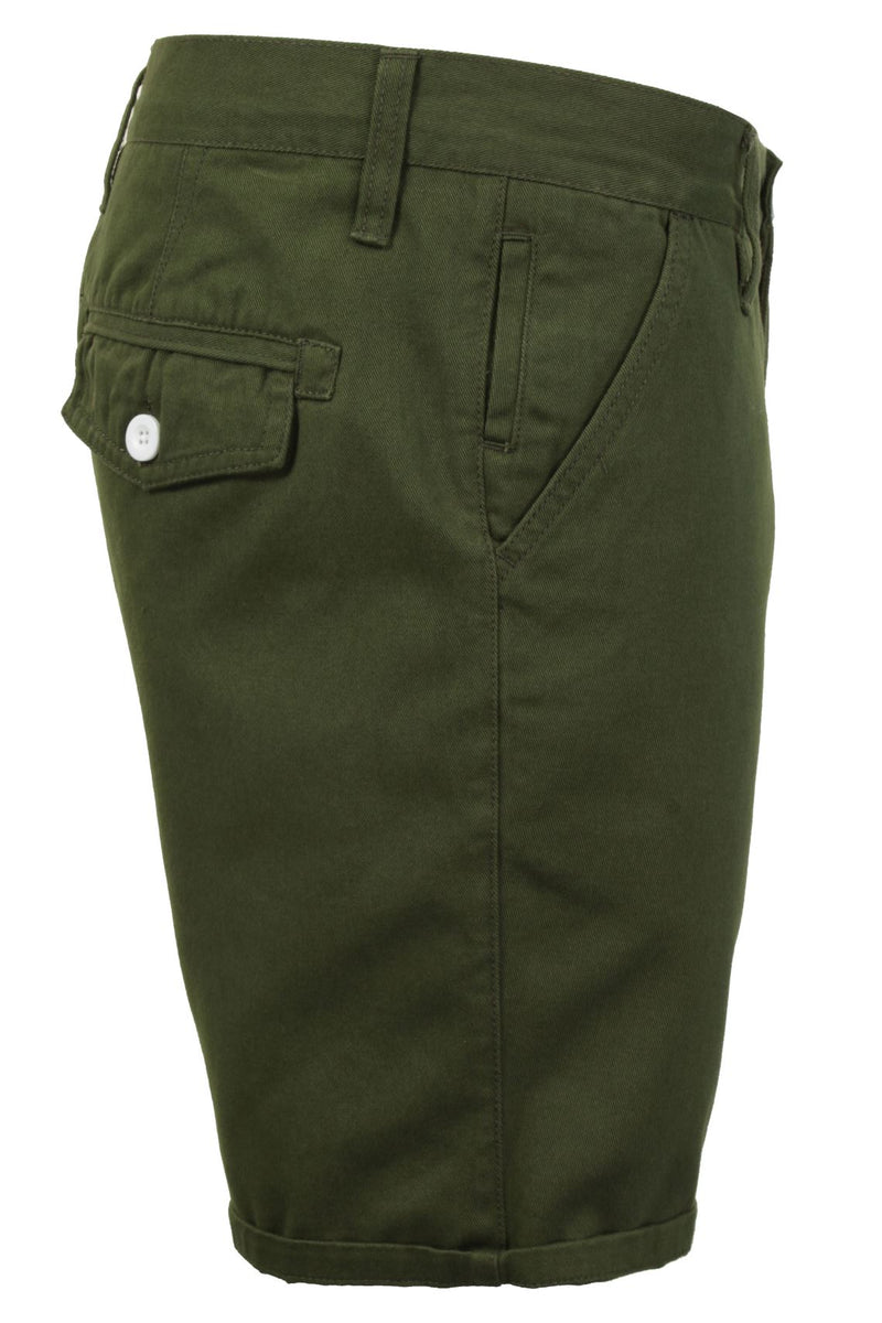 Mens Chino Short by Brave Soul 'Smith' Cotton Twill, 02, Msrt-Fern, #colour_Smith - Khaki