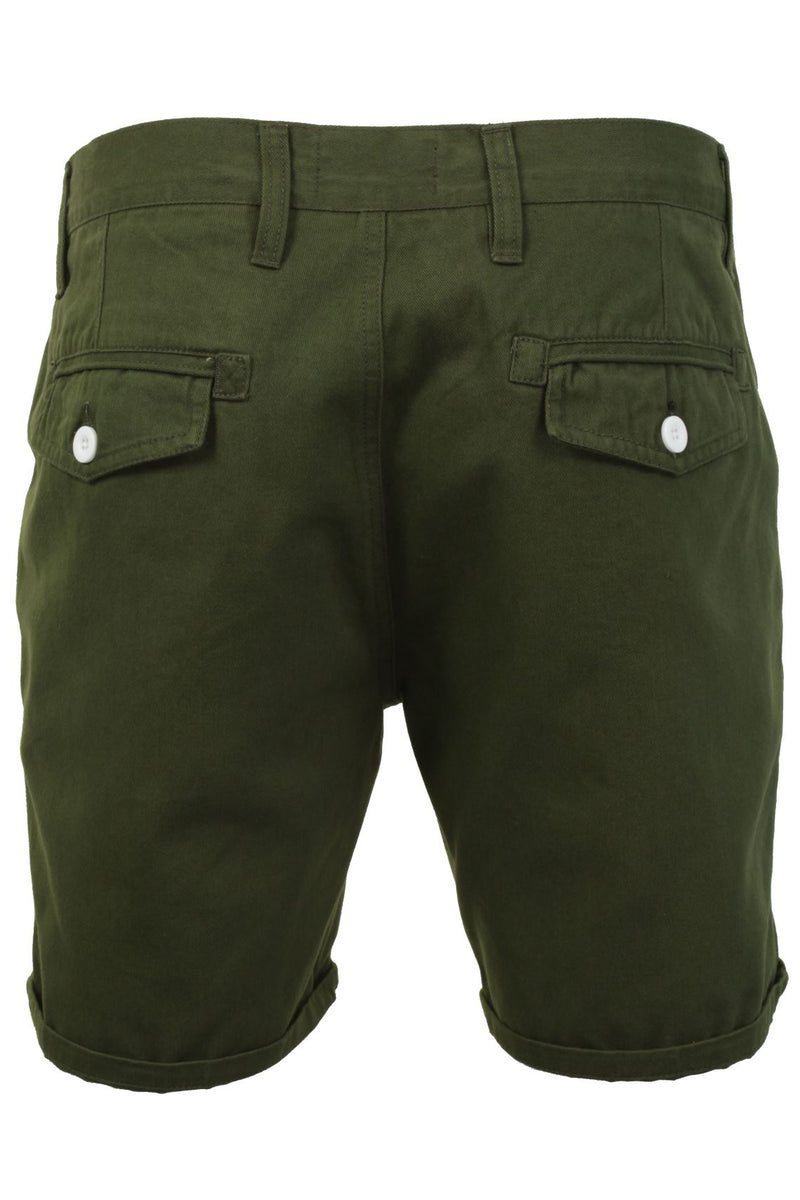 Mens Chino Short by Brave Soul 'Smith' Cotton Twill, 03, Msrt-Fern, #colour_Smith - Khaki