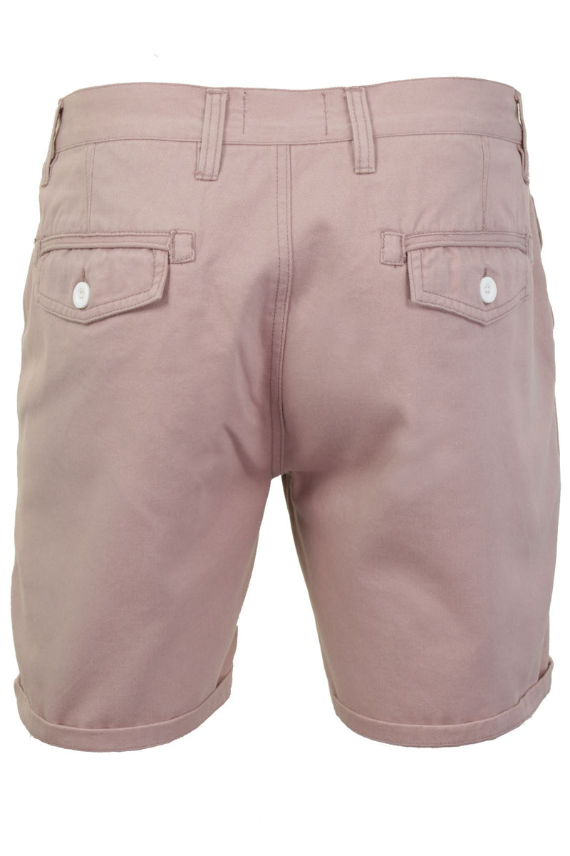 Mens Chino Short by Brave Soul 'Smith' Cotton Twill, 03, Msrt-Fern, #colour_Smith - Pink