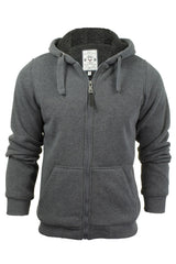 Mens Hoodie Sweatshirt Jumper Brave Soul 'Zone' Hooded Sherpa Lined-2