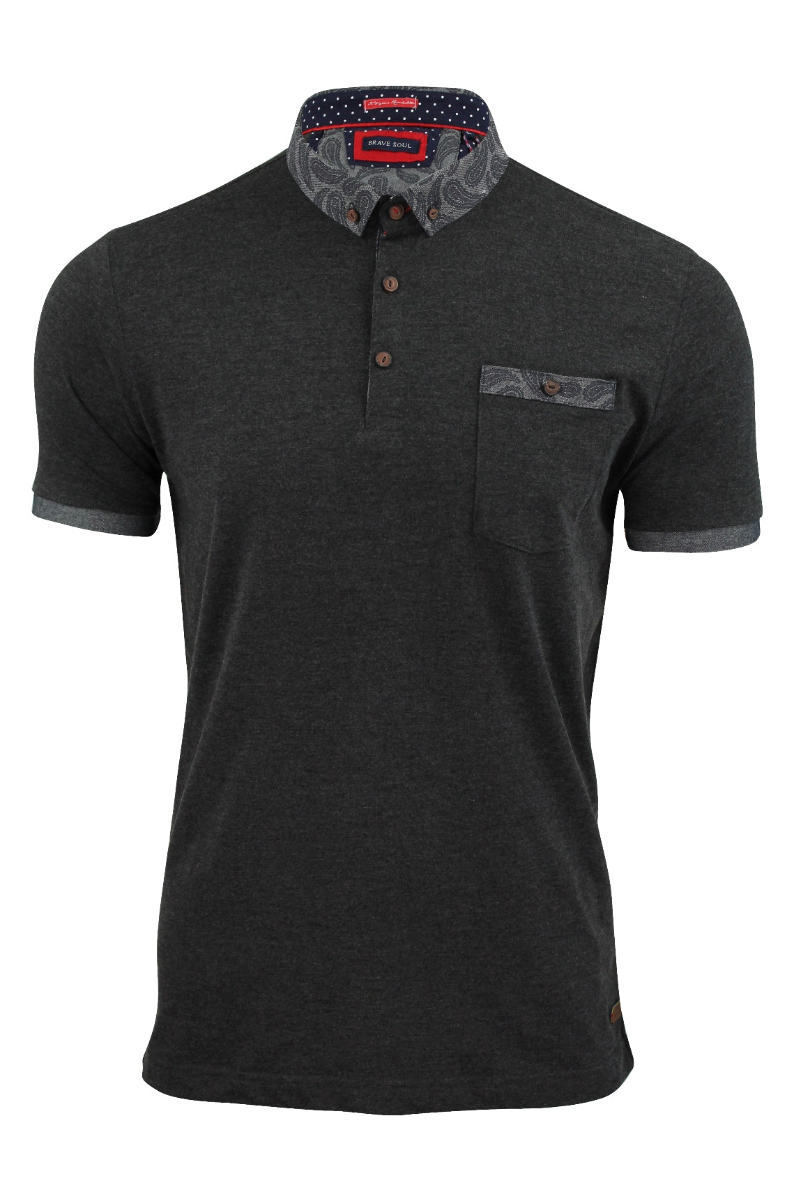 Mens Polo Shirt by Brave Soul 'Athens'-Main Image