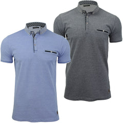 Mens Birdseye Pique Polo T-Shirt by Brave Soul Short Sleeved-Main Image