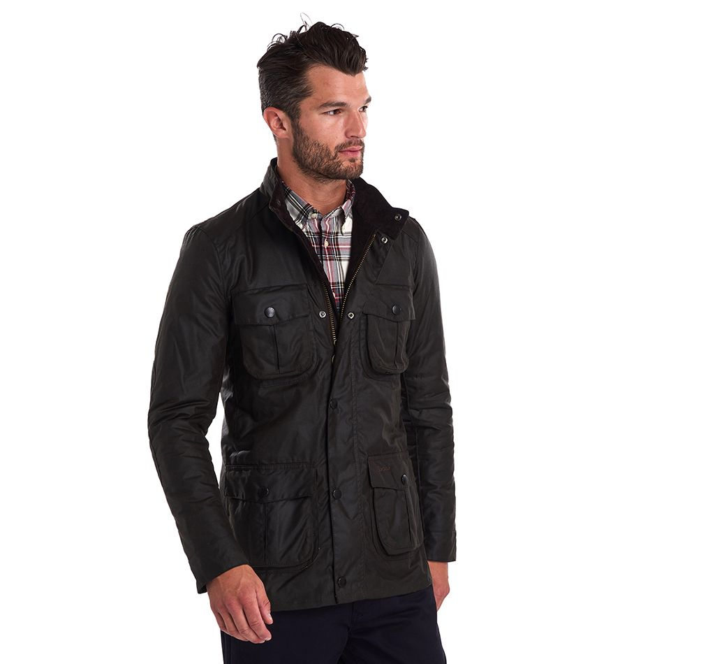 Barbour Men's Corbridge Wax Jacket_04_Mwx0340_Olive