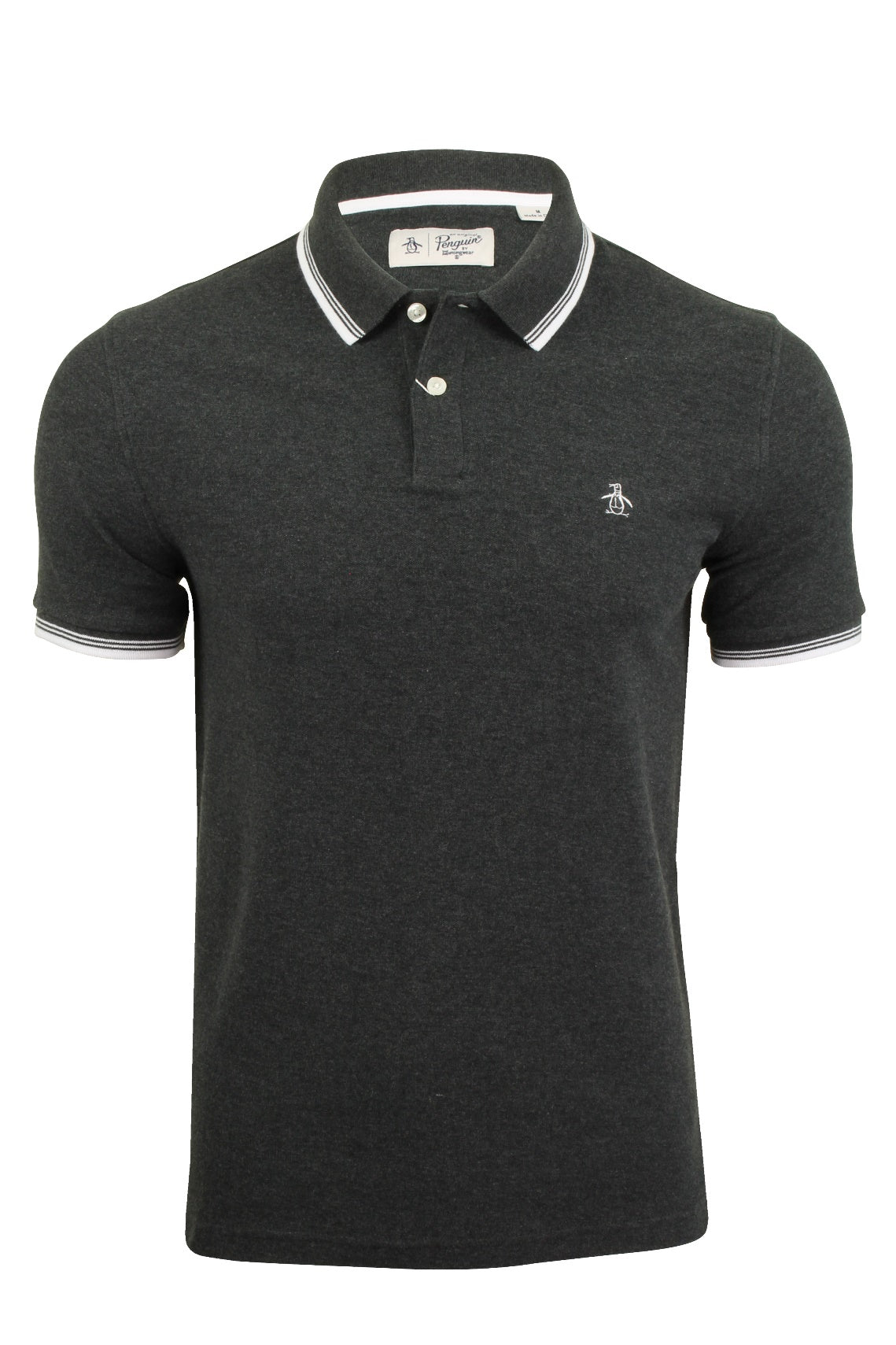 Mens Tipped Pique Polo T-Shirt by Original Penguin Short Sleeved-2