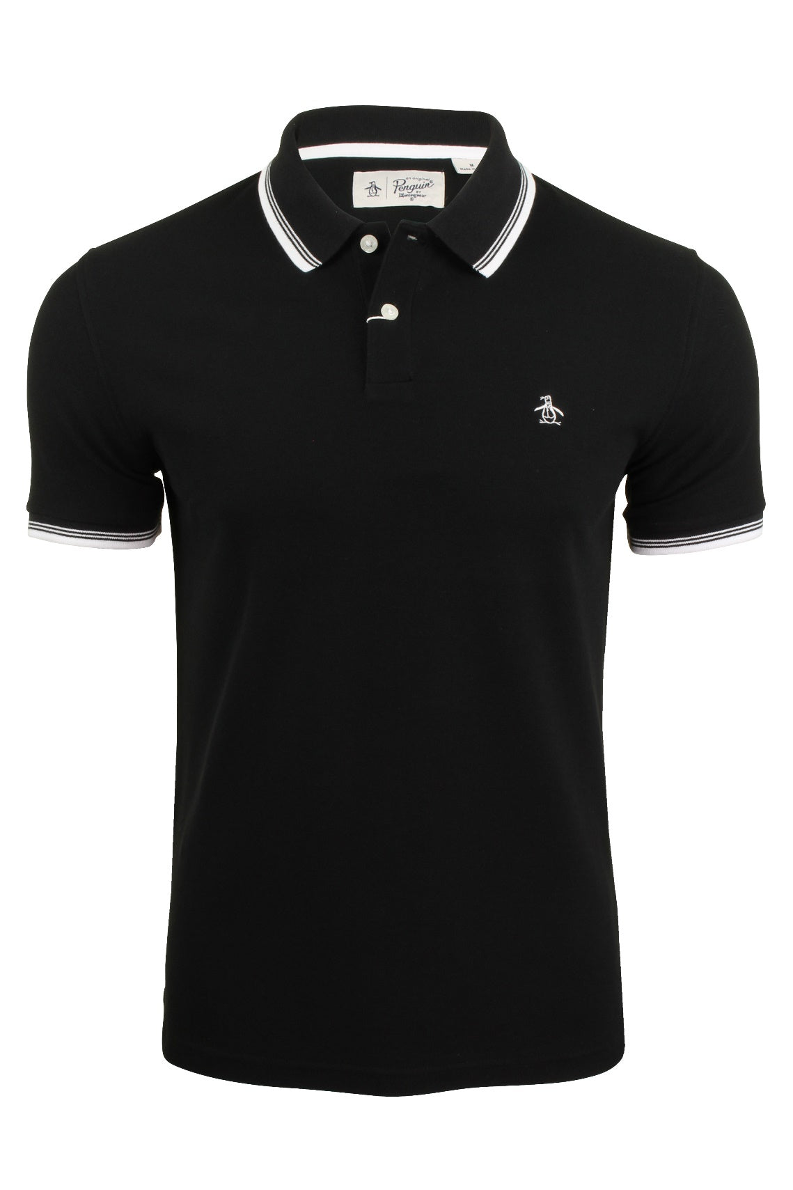 Mens Tipped Pique Polo T-Shirt by Original Penguin Short Sleeved-Main Image