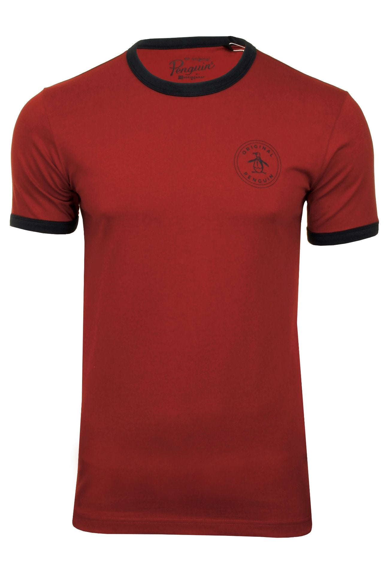 Original Penguin Mens T-Shirt 'Stamp Logo Ringer'-Main Image