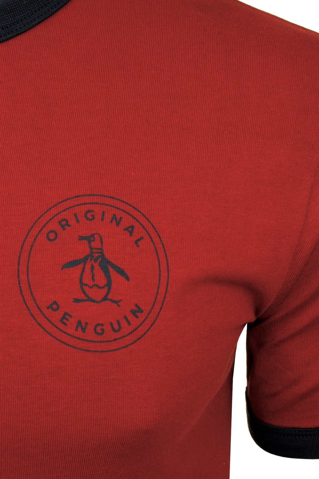 Original Penguin Mens T-Shirt 'Stamp Logo Ringer'-2