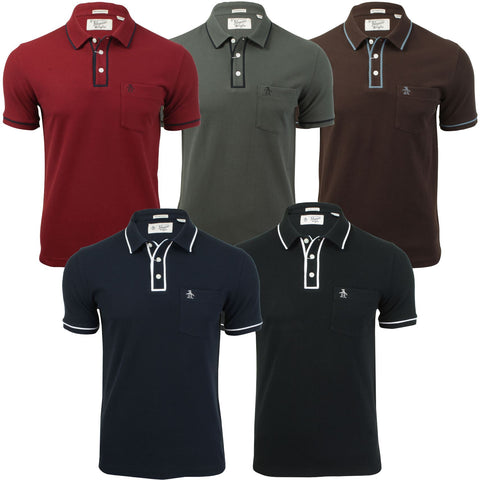 Mens Polo T-Shirt 'Earl' by Original Penguin Short Sleeved-Main Image
