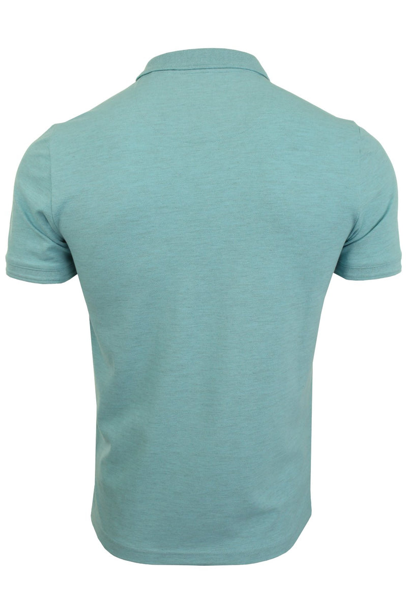 Mens Original Penguin Pique Polo T-Shirt - Short Sleeved, 03, Opkb0557, #colour_Blue Topaz Heather