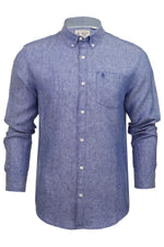 Original Penguin Mens Linen Shirt - Long Sleeved, 02, Opws9020