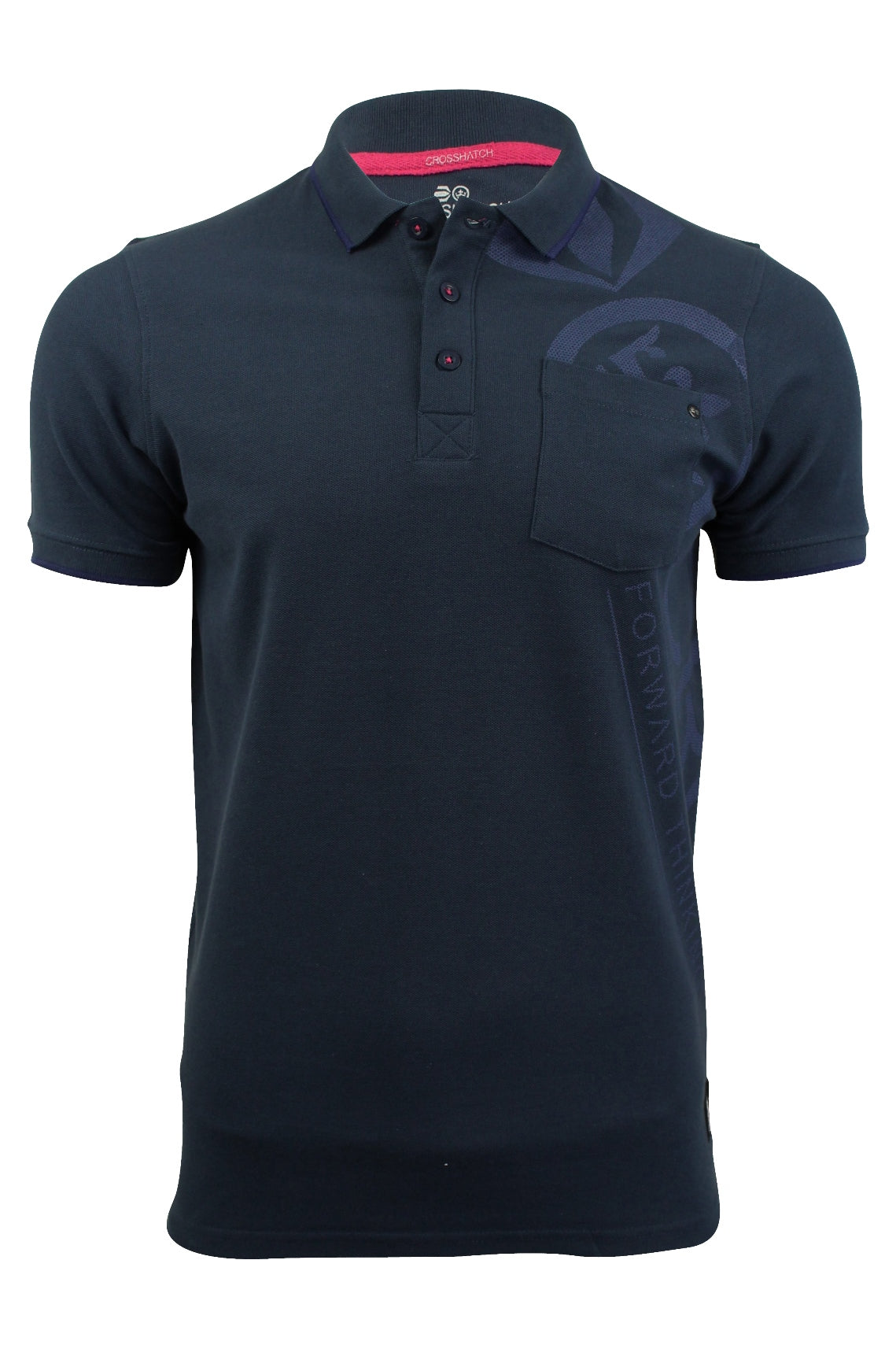 Mens Polo Shirt by Crosshatch 'Pacific Polo' Short Sleeved-2