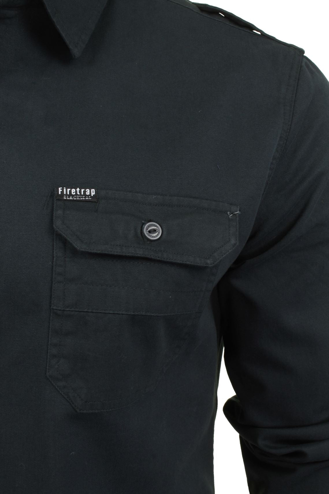 Mens Shirt by Firetrap 'Pittson' Long Sleeved-2