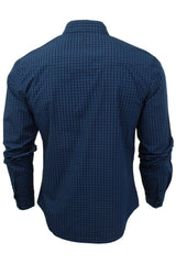 Mens Check Shirt by Smith & Jones 'Porticus' Long Sleeved-3