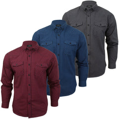 Mens Shirt by Smith & Jones 'Chadwick' Long Sleeved Slim Fit-Main Image