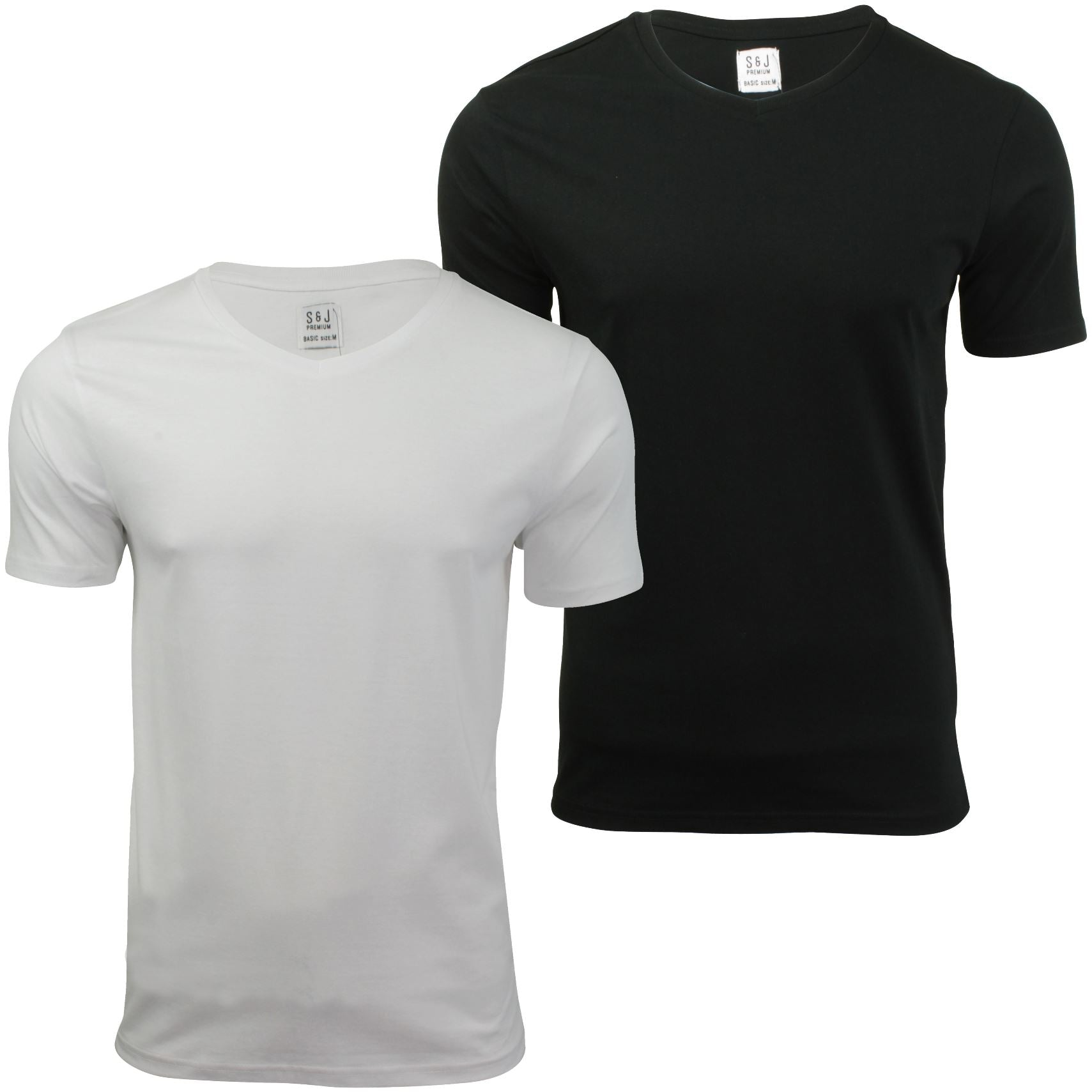 Mens (2-Pack) T-Shirts by Smith & Jones Short Sleeved-Main Image