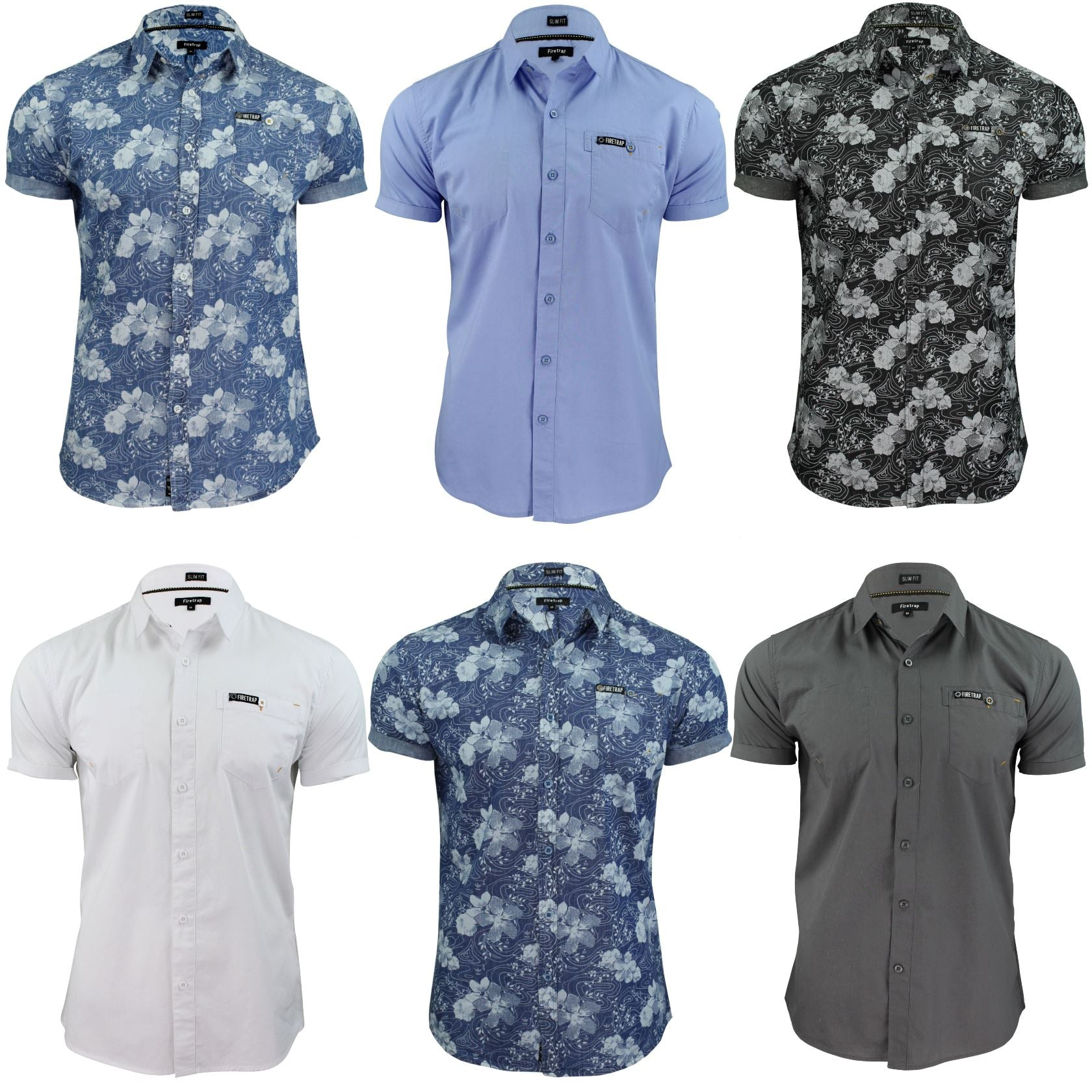Mens Short Sleeved Shirt by Firetrap-Main Image