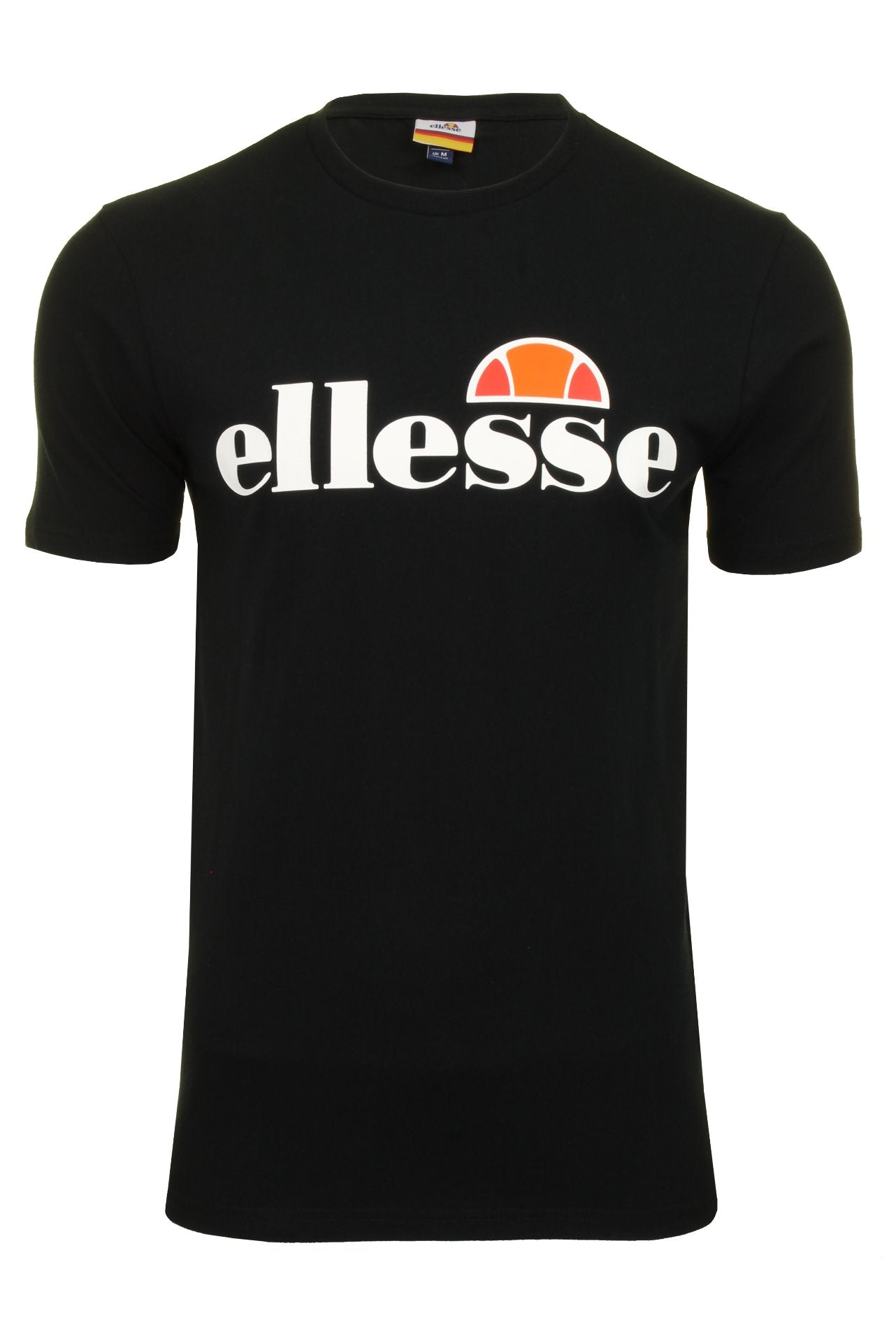 Ellesse Mens Logo Front Crew Neck T-Shirt 'PRADO' - Short Sleeved_01_Shc07405_Black