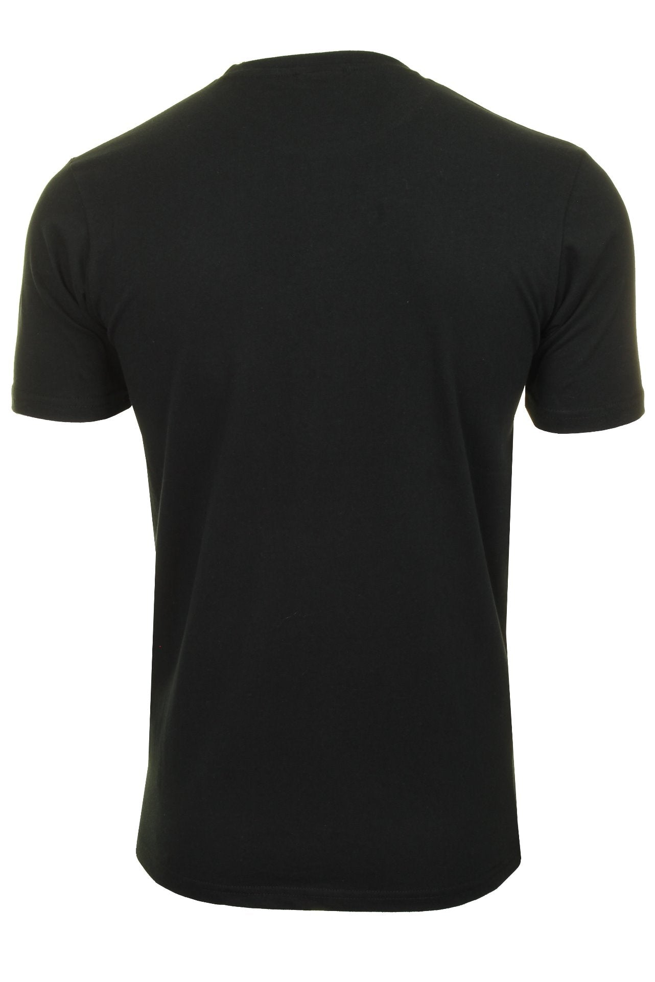 Ellesse Mens Logo Front Crew Neck T-Shirt 'PRADO' - Short Sleeved_03_Shc07405_Black