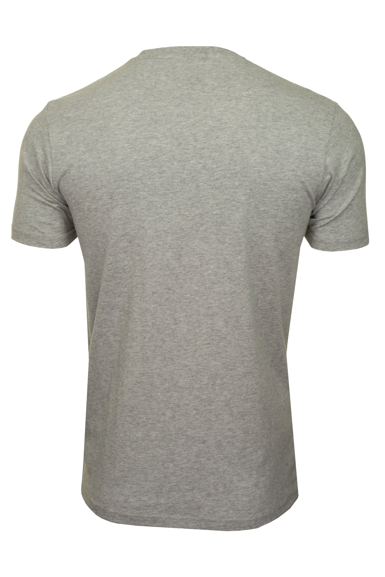 Ellesse Mens Logo Front Crew Neck T-Shirt 'PRADO' - Short Sleeved_02_Shc07405_Grey Marl