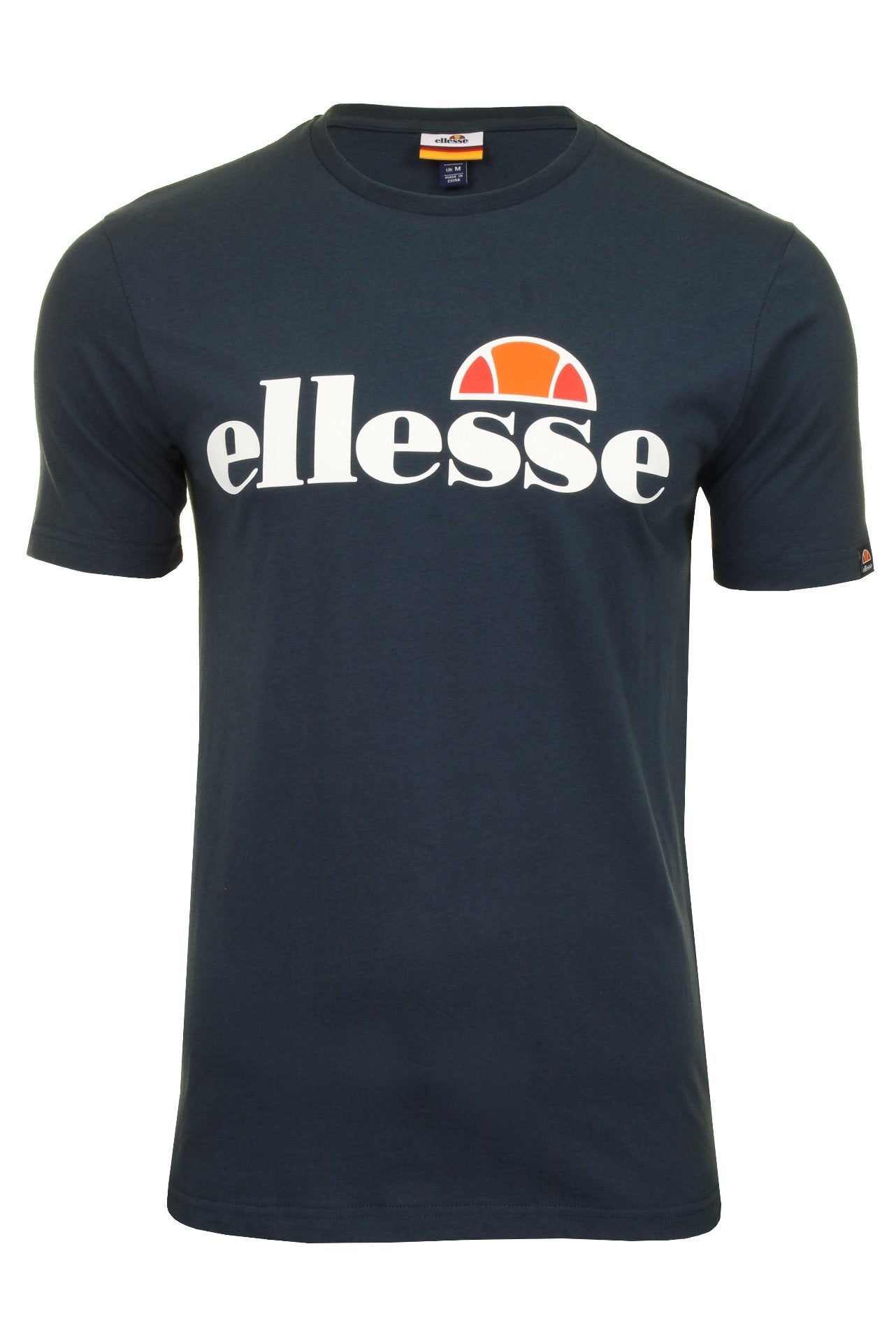 Ellesse Mens Logo Front Crew Neck T-Shirt 'PRADO' - Short Sleeved_01_Shc07405_Navy
