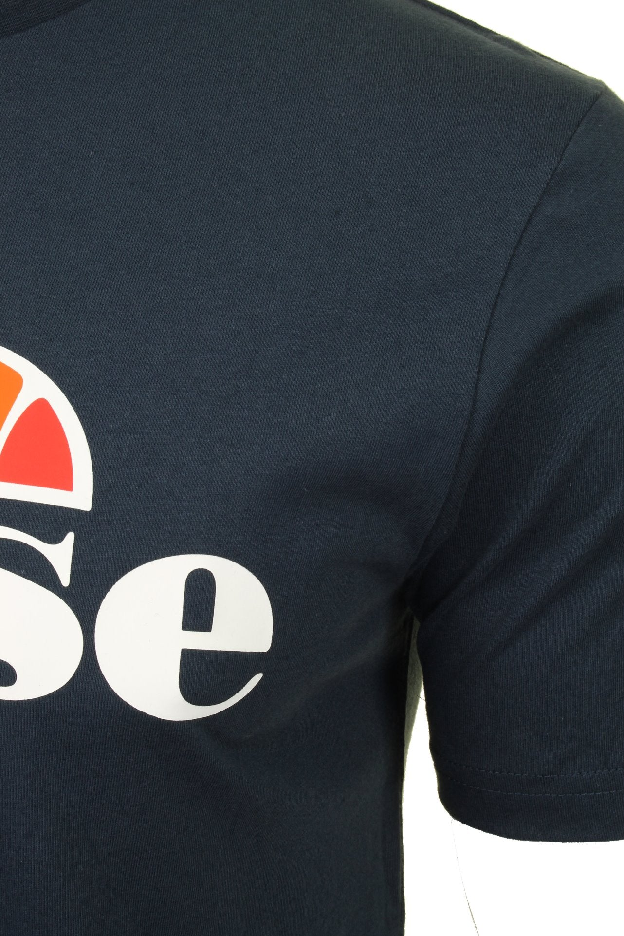 Ellesse Mens Logo Front Crew Neck T-Shirt 'PRADO' - Short Sleeved_02_Shc07405_Navy