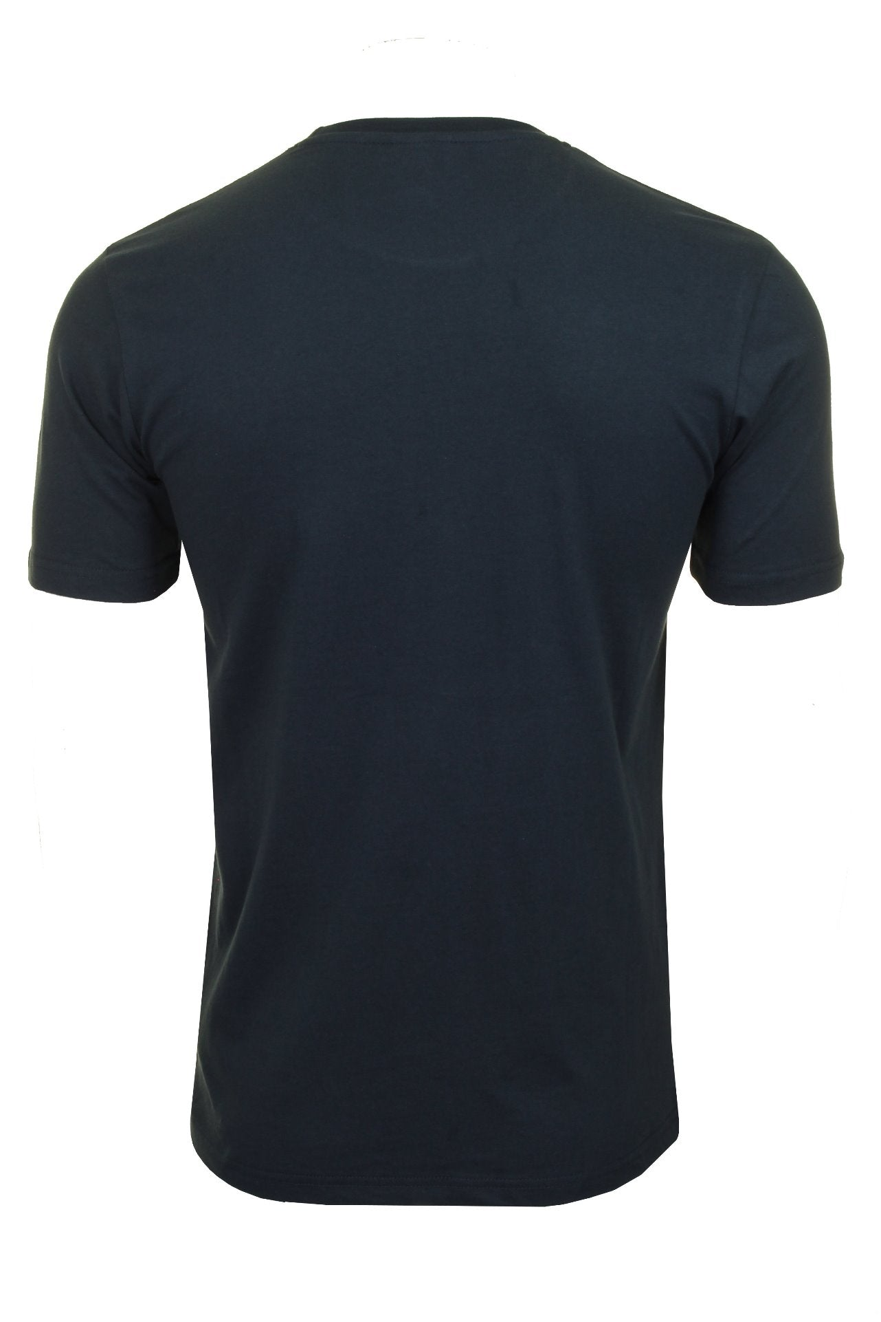 Ellesse Mens Logo Front Crew Neck T-Shirt 'PRADO' - Short Sleeved_03_Shc07405_Navy