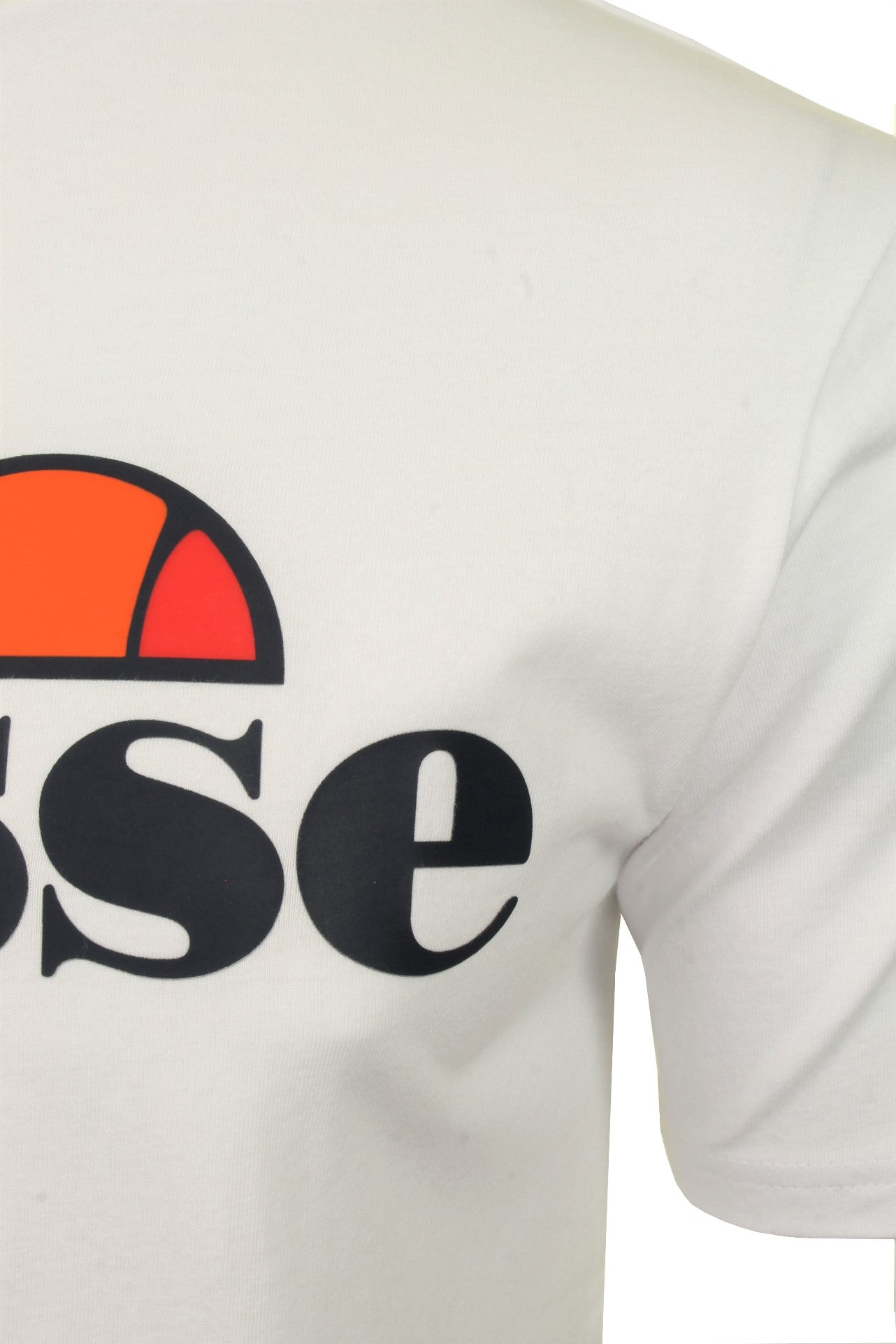 Ellesse Mens Logo Front Crew Neck T-Shirt 'PRADO' - Short Sleeved_02_Shc07405_White