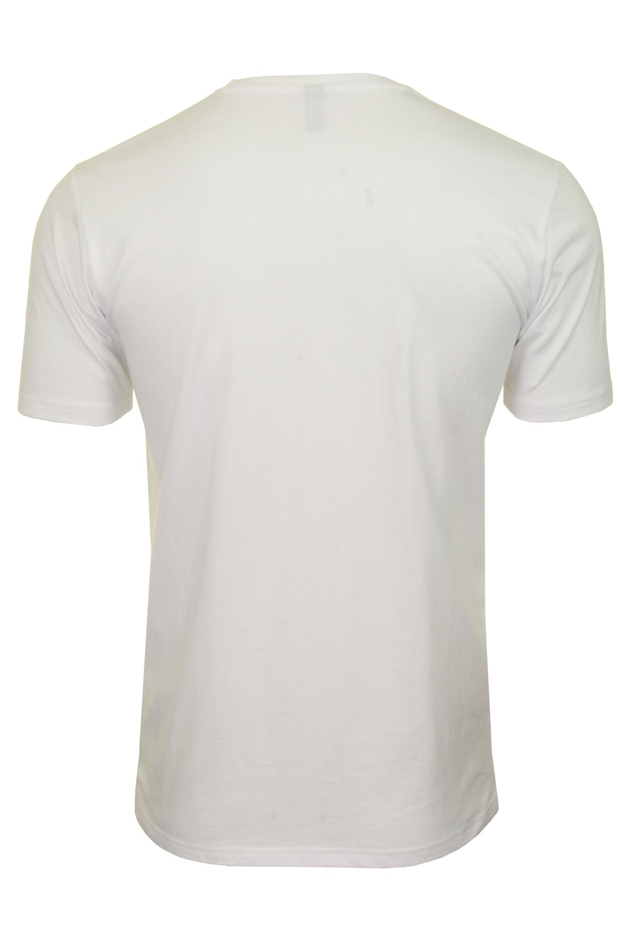 Ellesse Mens Logo Front Crew Neck T-Shirt 'PRADO' - Short Sleeved_03_Shc07405_White